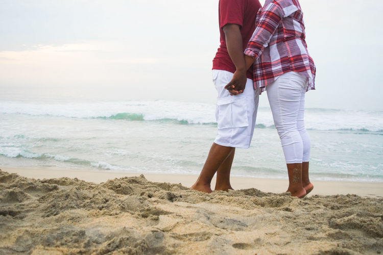 Couple Hands Los Cabos Love Adult Beach Kissing Nature Sand Sea Sky Standing Travelers Two People Vacations