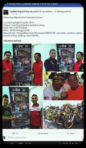 are you ready! start your engine! Dragwar!!! Check This Out Litar Drag Sejingat !!! Kuching, Sarawak