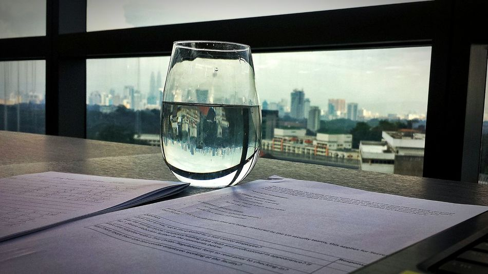 Reflection Window No People Day Water Close-up City Indoors  Nature Sky Architecture Kuala Lumpur Stemless Stemless Wine Glass