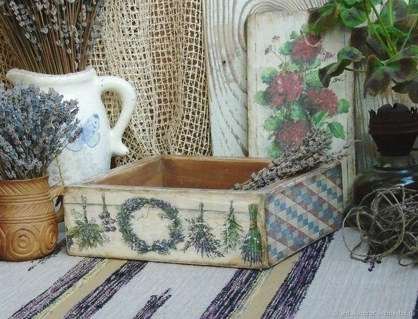 ящик Country Life кантристайл Provence Countryside Wood Picture Hygge Country Decoration Decor деревянный дом прованс короб Close-up Interior Mosaic Wooden Room