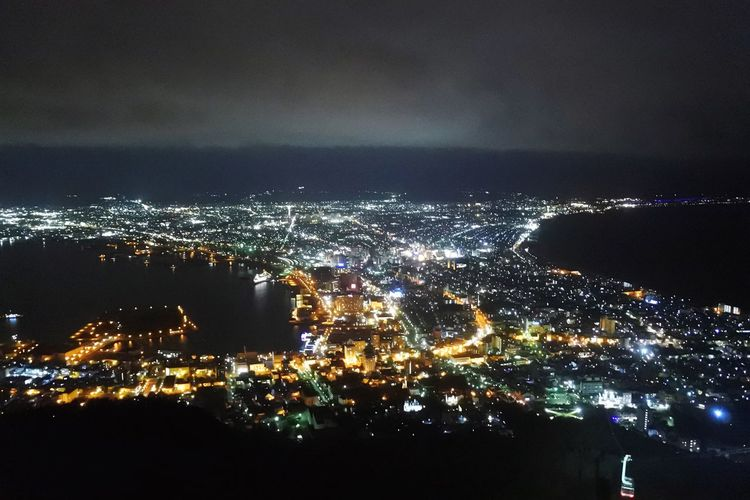 函館の夜景 Hakodate 函館山 函館 Night Illuminated City Cityscape Sky Architecture No People Nature Building Exterior Built Structure Water Glowing Cloud - Sky Aerial View Lighting Equipment Beauty In Nature Outdoors Scenics - Nature City Life Dark 函館山 函館 Night Illuminated City Cityscape Sky Architecture No People Nature Building Exterior Built Structure Water Glowing Cloud - Sky Aerial View Lighting Equipment Beauty In Nature Outdoors Scenics - Nature City Life Dark