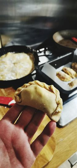 Close-up of hand holding food
