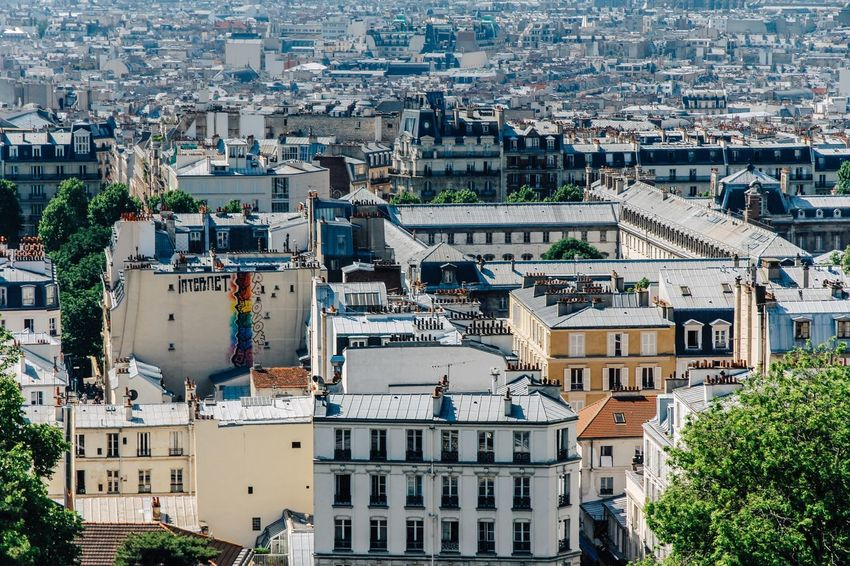 Skyline France Paris Building Exterior Architecture Built Structure City Building Residential District High Angle View Cityscape Crowded Day Roof TOWNSCAPE Settlement Street