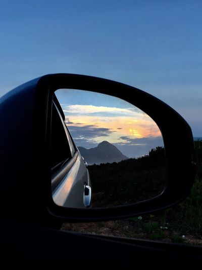 The Drive Car Side-view Mirror Sunset Nature No People Vehicle Mirror EyeEm Gallery IPhoneography Photography Sunset_collection Brazil