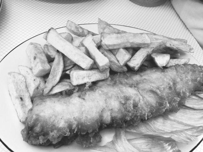 Fish And Chips Lunch Blackandwhite Negro Black Blanco White