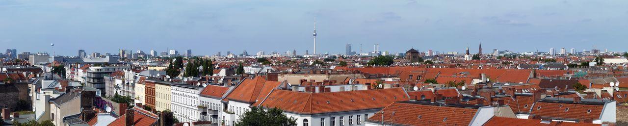 Berlin Neukölln Panorama panoramic Skyline Berlin Stadtpanorama City Dächer Von Berlin Dächer Der Stadt Dächer Fernsehturm Berliner Fernsehturm