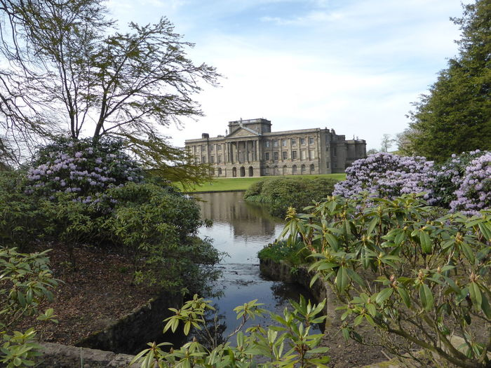 Exterior Flowers Historical Building Lake Lyme Park Mr Darcy Pride And Prejudice Spring