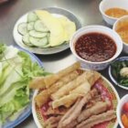 "Street Food Worldwide @spring roll @can you call this ""nem ninh hoa"""