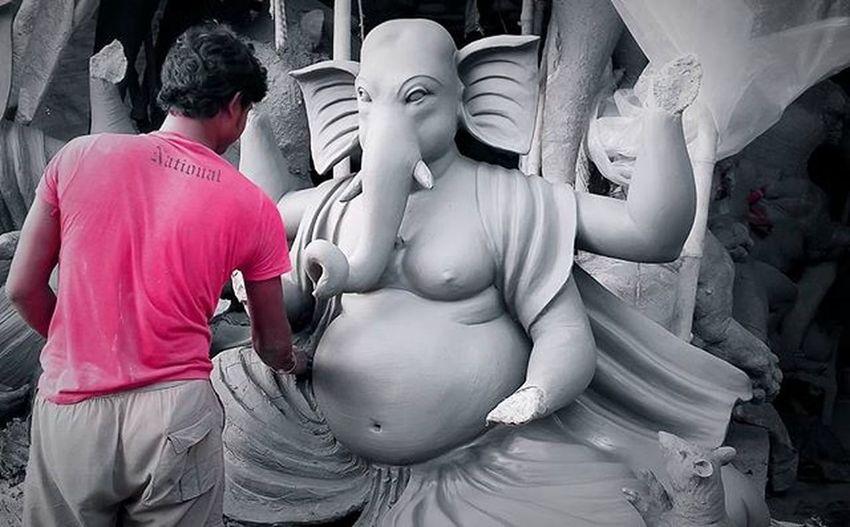 Bappa Moriya !! . . Ganesh Lord Festival FestivalOfIndia WealthGod Ig_calcutta Calcutta Kolkata Colorsplash Monochrome Monochromeindia Calcuttachutzpah MyShoeboxOfPhotographs _ccal _cic