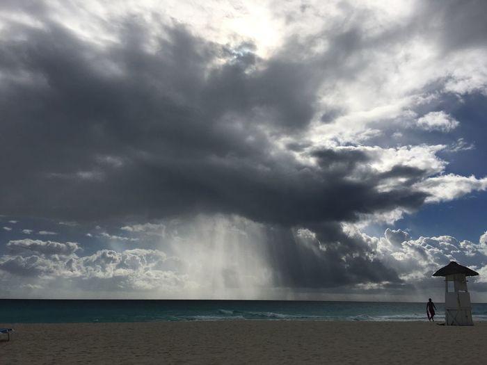 Morning at the Carribean Sea Sea Cloud - Sky Beach EyeEm Best Shots EyeEm Best Shots - Nature EyeEm Best Shots - Landscape Travel Photography One Person Beauty In Nature Weather