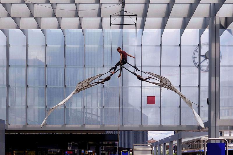 Ein Akrobat