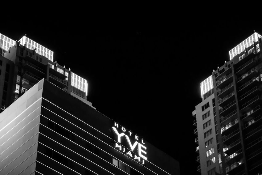 One Star Black And White Hotel At Night Minimalism North Star Nighttime Sky Showcase March