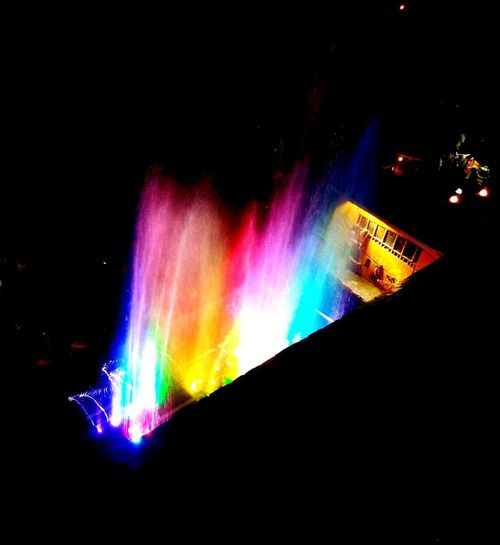 Light and Sound fountain show Creativity Technology Light Fountain Manali Beauty Fountain Show Water Dance Night Dark Rainbow Lightning Multi Colored Illuminated Technology Power In Nature Science Close-up Spectrum Refraction Rainbow