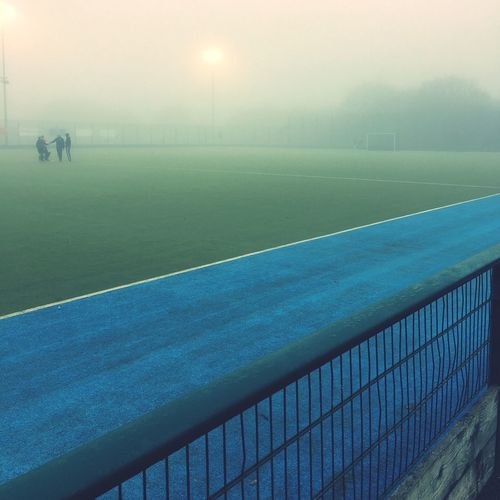 Hockey Field During Foggy Weather