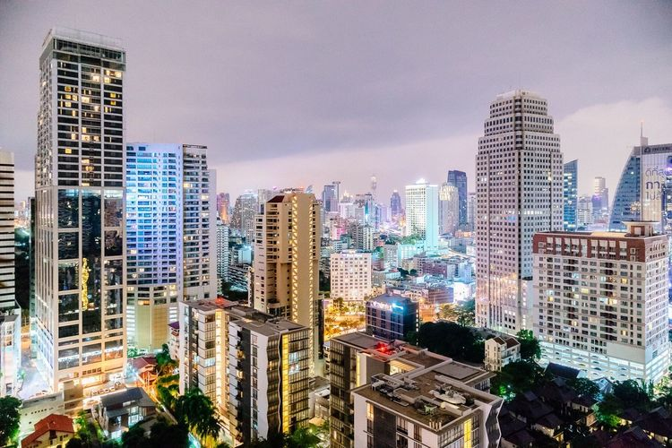 Skyscrapers in city