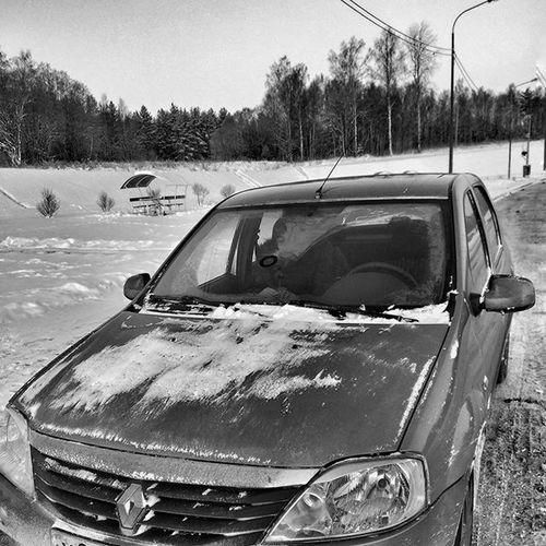 В морозы тяжело.... Авто Auto Blackandwhite чернобелоефото