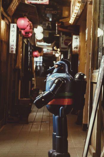 Indoors  Old-fashioned No People Illuminated Day Japan Nostalgia Nostalgic  Robot Anime Tetsujin Japan Photography
