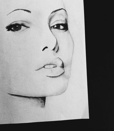 Drawing Angelina Jolie Blackandwhite Art