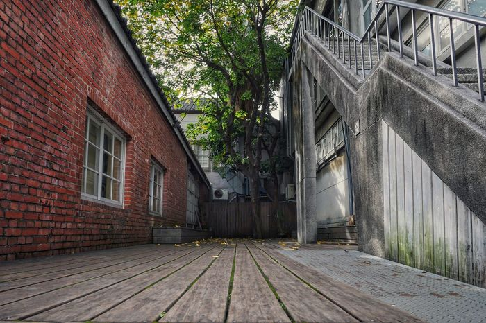 Silent corner Floor Open Space Space Street Photography Exterior Block Wooden Peaceful Corridor Corner Architecture Built Structure Building Exterior Window Outdoors Day No People Tree City Sky Close-up