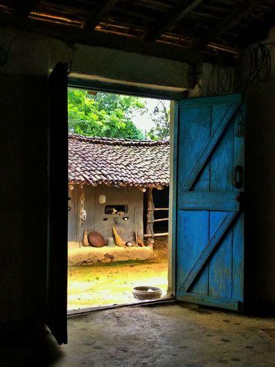 Opened Door Home Door Entrance
