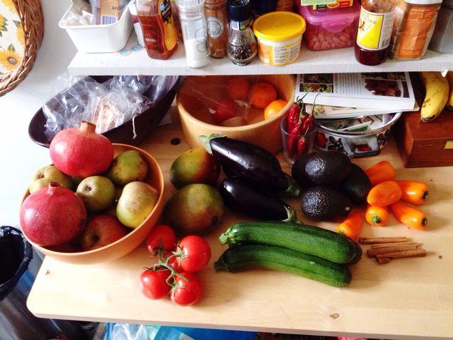Fresh Produce Vegetables Colors Food Enjoying Life Love