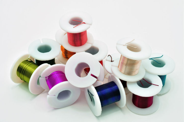 small spools of