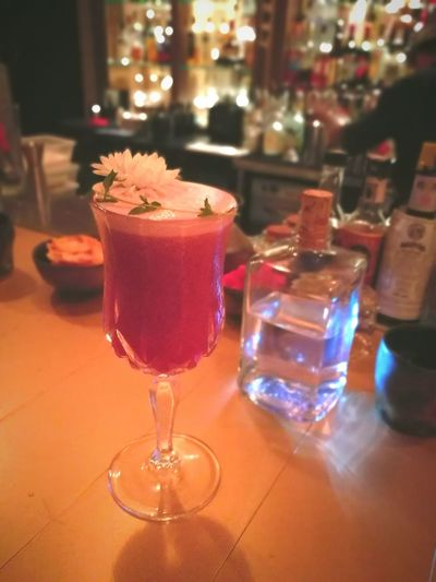 Virgin Cocktail Drink Alcohol Refreshment Food And Drink Bar - Drink Establishment Indoors  Bar Counter Drinking Glass Close-up 2017 Hiddenbar Nightlife Red Color