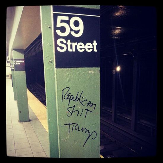 Republican Shit Trump Subway NewYork Manhattan NY NYC LOL