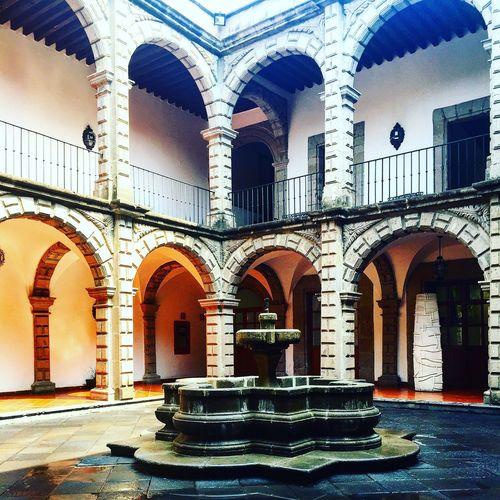 Historiccenter Downtown Mexico Cdmx Museum Cancilleria Architecture Patio Yard Fountain