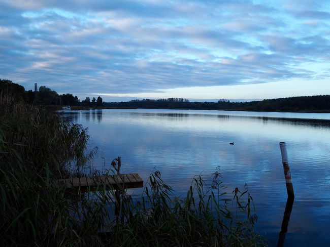 Beauty In Nature Blaue Stunde Cloud - Sky Day Grass Havelland Idyllic Lake Nature No People Outdoors Reflection Scenics Sky Tranquil Scene Tranquility Tree Water