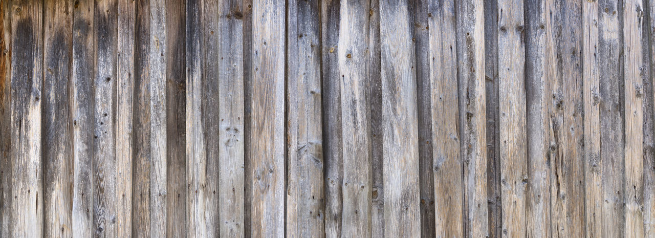 Panorama of a weathered, gray board wall Façade Panel Paneling Panoramic Textured  Wall Weathered Wood Wooden Facade Abstract Architectural Background Board Board Wall Close-up Closeup Detail Gray Pattern Perpendicular Texture Vertical Wall Covering Wooden Wooden Wall