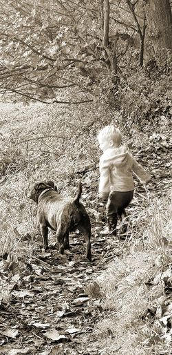 boys best friend... Child Friendship Dog Staffy Staffylove Little Boy Love Happiness Forest Walk Smile Canine Pets Ground This Is Family