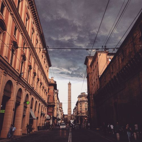 Apocalypse Bologna Storm Two Towers Clouds Darkness And Light Italy Storm Coming My Best Photo