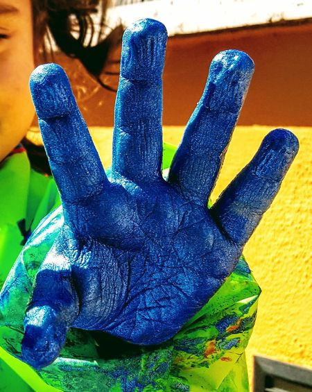 Creative Activities For Children Creative Works Paint With Children Kids Paint Blue Blue Sky Close-up Creative Work For Kids Day No People Outdoors Educational Education Learning Education First ! Fun Creative Works For Children Art And Craft Kids Playing Creative Art Is Everywhere Creative Work