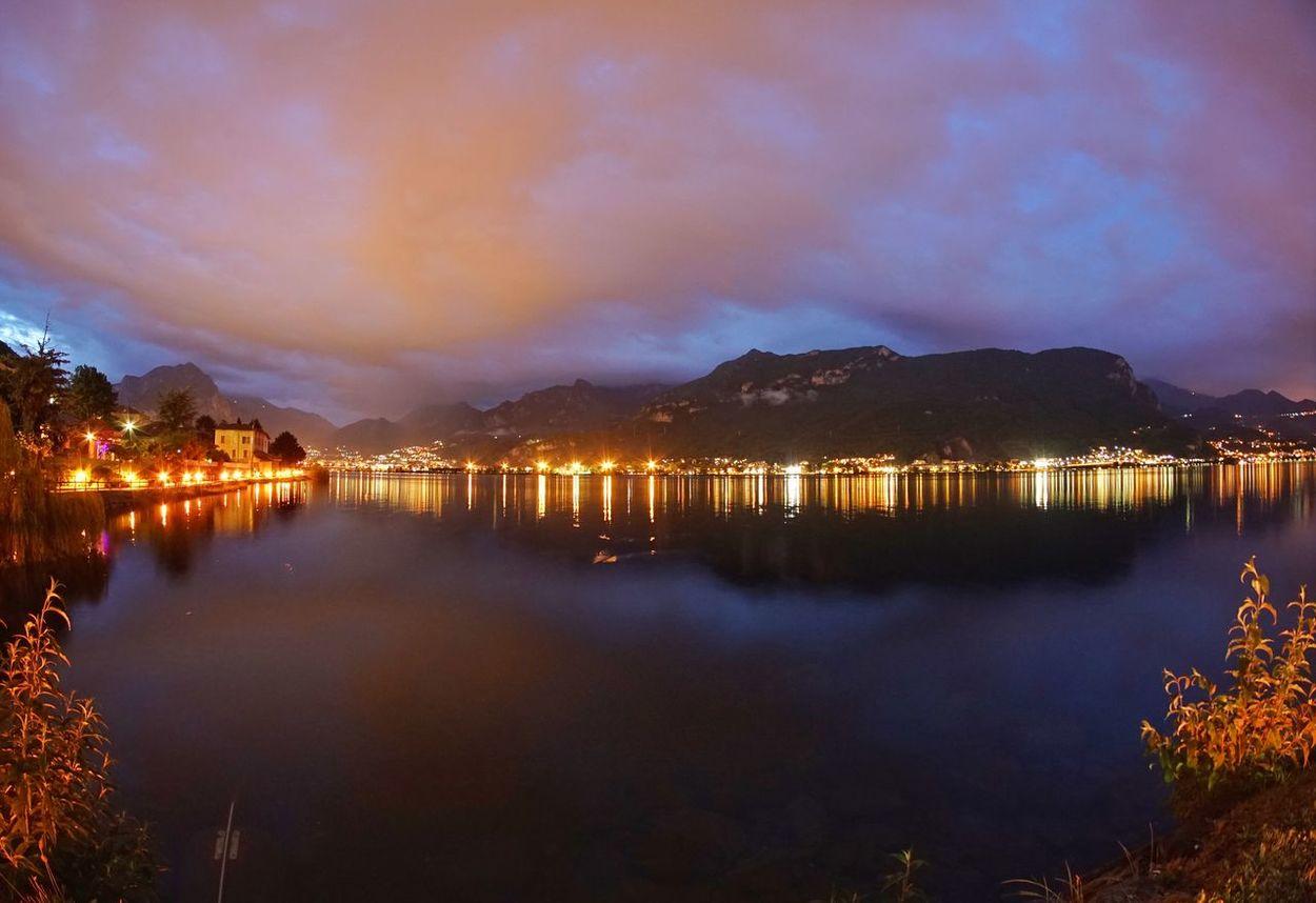 Nuvoloso Lake View Nuvole Lecco Lake Temporale Notte Lago Night Cities At Night Sky Lake Leccocity Renzo E Lucia Natura Promessi Sposi Samyang 8mm F2.8