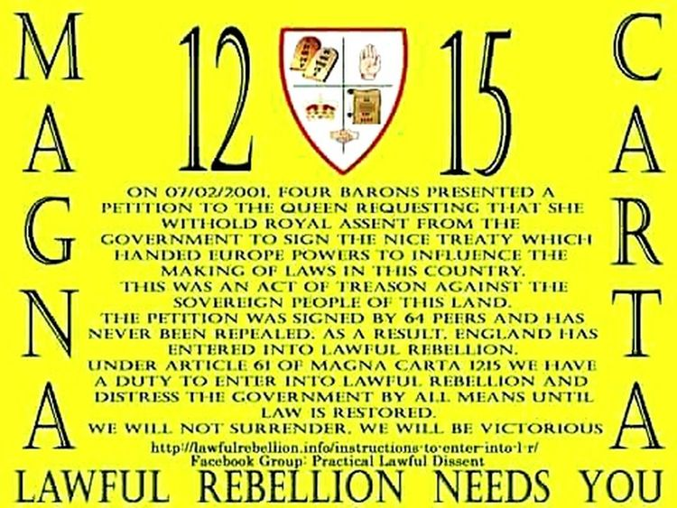 Text No People Lawful Rebellion The Law Common Law Magna Carta