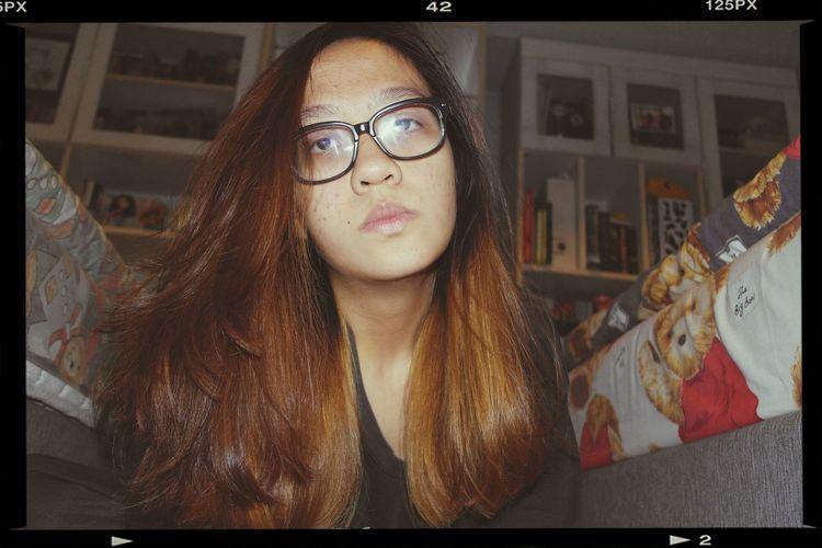Highlights Brown Hair Selfie