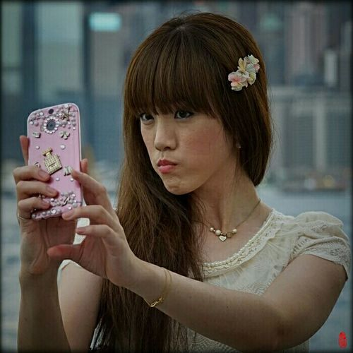 Selfie ✌ Selfie Time HongKong Hong Kong Human Meets Technology Streetphotography Up Close Street Photography China Victoria Harbour Tsim Sha Tsui Portrait Photography Portraiture PortraitPhotography The Portraitist - 2016 EyeEm Awards