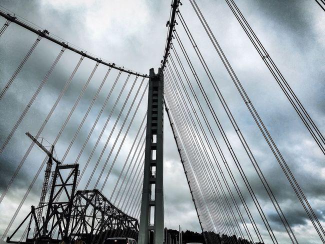 Old & New Oakland Bay Bridge Bridges Clouds And Sky