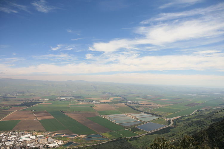 Amazing Landscapes of Israel, Views of the Holy Land Environment Landscape Scenics - Nature Beauty In Nature Sky Patchwork Landscape Agriculture Tranquil Scene Cloud - Sky Rural Scene Nature Tranquility Day Land Farm Field No People Idyllic Aerial View Outdoors