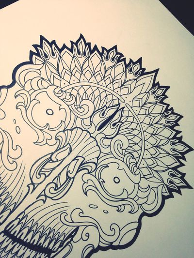Estudo Caveira Tibetana... Caveiratibetana Tibetanskull Ornamental Ornamentaltattoo Mandalatattoo Blackworktattoo Tattoo Tattooart Gisrodriguestattoo Blackdynasty