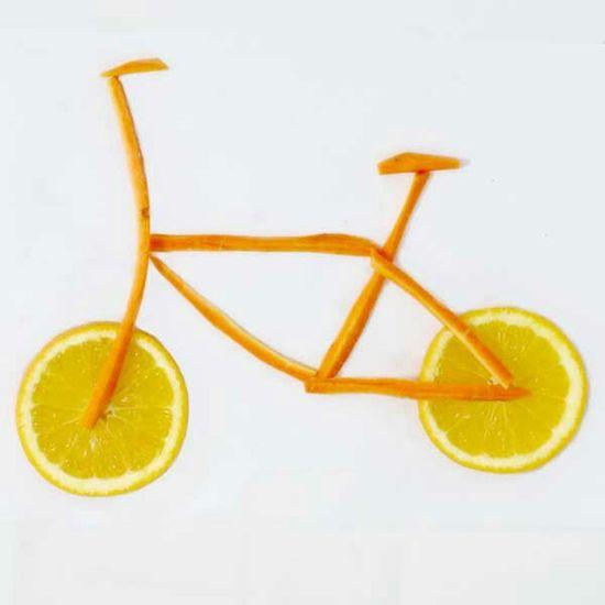healthy carrit and orangd bike Brunch Around The World Jakarta Indonesia Ilustration Food Sport