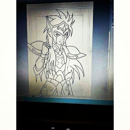 Camu saint seiya ink draw by nico Drawing Saintseiya Seiya Art