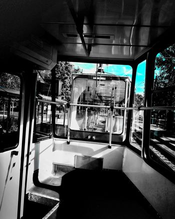 Zdjęcianiespodziewane Huawei Polska Bydgoszcz Tramwaj Niebo Sky Niebieski Blue Blue Sky Vehicle Seat Passenger Train #urbanana: The Urban Playground Summer In The City My Best Travel Photo It's About The Journey