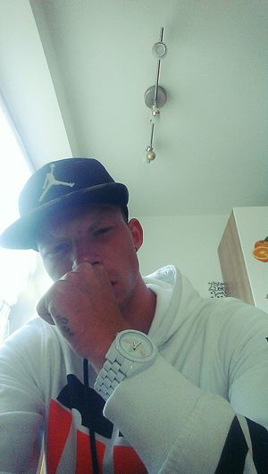 Chillin' Taking Photos Tattooed AdidasLover❤ AdidasclockAdidas Originals Jackandjones Jordancap