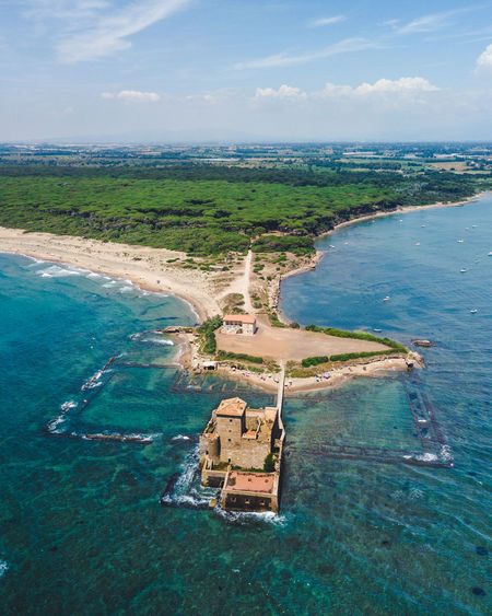Not so far from Rome, a beautiful ancient place called Torre Astura. History Ancient Castle Aerial Landscape Aerial Photography Aerial Shot Castle Ancient Rome Italy Lazio,Italy Nature Sea Seascape Water High Angle View Aerial View Beach Travel Destinations Torre Astura