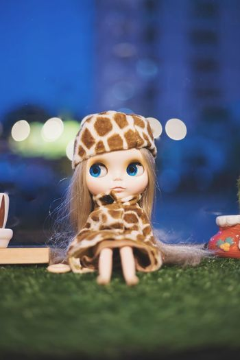 Looking At Camera Night Fun Front View Figurine  Portrait Theatrical Performance Grass Doll Outdoors Childhood People Happiness Smiling Child One Person Halloween Close-up Blythe Doll ตุ๊กตา น่ารัก สวย ของสะสม Wallpapers Backgrounds