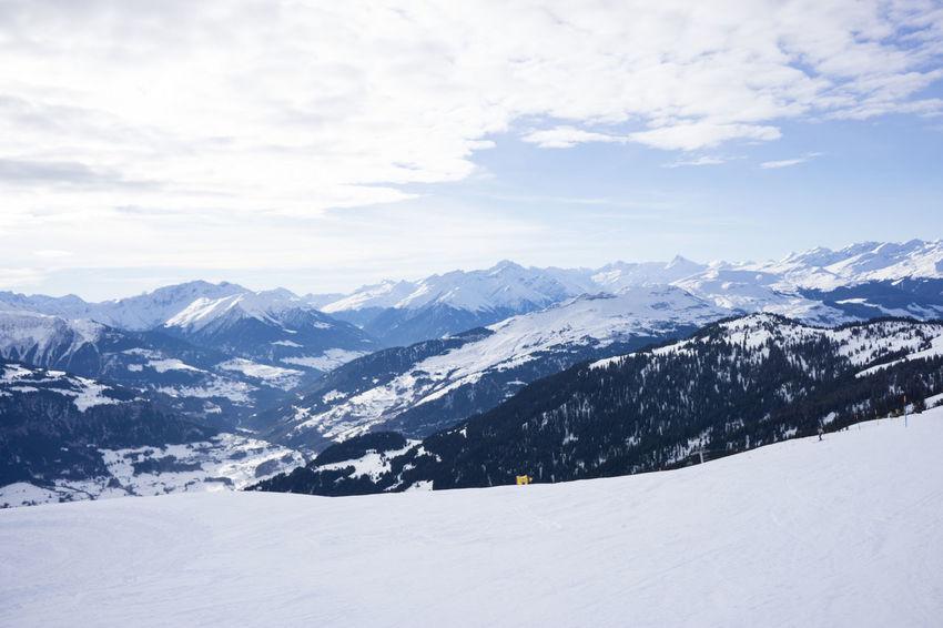 Alpine Alps Alps Switzerland Day Mountains Nature Outdoors Ski Ski Run Skiing Sky Slope Snow
