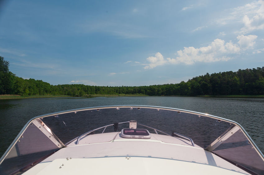 Brandenburg Vacations Beauty In Nature Boat Ride Boat Trip Day Drivers View Lake Mode Of Transportation Motorboat Nature Nautical Vessel No People Outdoors Sky Sunlight Tranquility Transportation Travel Travel Destinations Tree Vacation Water