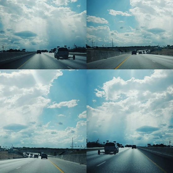 San Antonio Texas On The Road Fuji X100s Freeway I35 Dramatic Sky Clouds And Sky